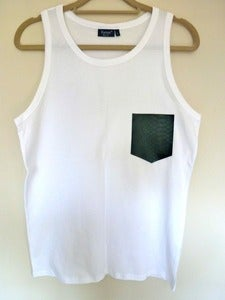 Image of Faux Snakeskin Pocket Effect Vest