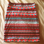 Image of Tribal pattern bodycon skirt
