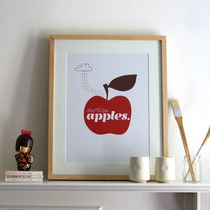 Image of She'll Be Apples Print | Red