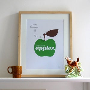 Image of She'll Be Apples Print | Green