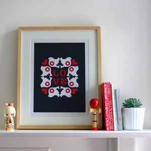 Image of Flock Screen Print | Navy {20% OFF + FREE SHIPPING}