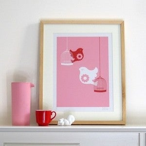 Image of Free as a Bird Screen Print | Pink