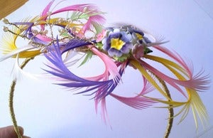 Image of Vintage china flowers Headpiece