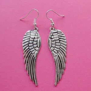 Image of Silver Angel Wing Earrings