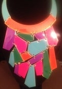 Image of Multi Puzzle piece necklace