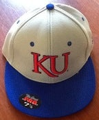 Image of Kansas Official On Field Hat Grey and Blue 7 1/8 grey bottom