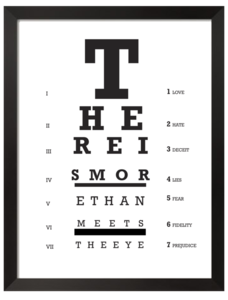 Image of THERE IS MORE THAN MEETS THE EYE (PRINT)