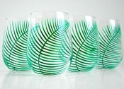 Image of Fern Stemless Wine Glasses-Set of 4