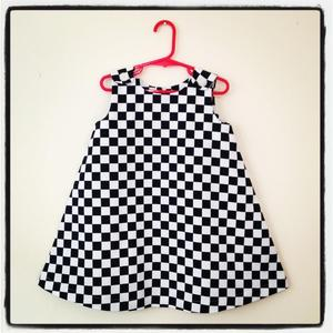 Image of Checkerboard toddler dress - size 3