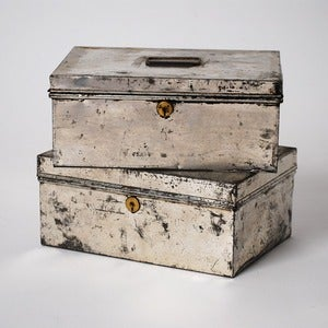 Image of Silver Metal Bank Boxes