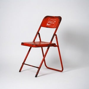 Image of Red Coca-Cola Folding Chair