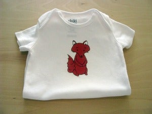 Image of Fantastic Baby Fox, One Piece Bodysuit, Short Sleeve, Baby, Nursery