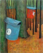 Image of Maple Sap Buckets Painting