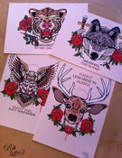 Image of Animal Tattoo Flash Card Set