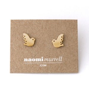 Image of Lovebird Studs | Golden