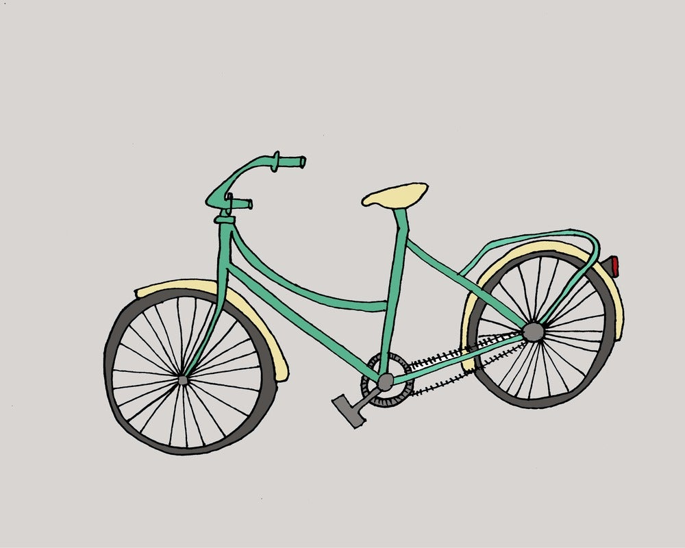 Bicycle illustration retro - photo#6