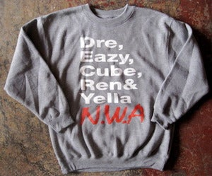 Image of N.W.A SHOUTOUT CREW-NECK