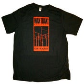 Image of WAX TRAX! RECORDS T-Shirt/Original Wire Logo (RED)