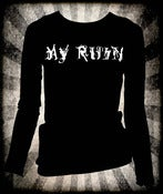 "Image of My Ruin ""Classic Logo"" Girls Long Sleeve T~!"