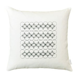 Image of White Circles Pillow Cover