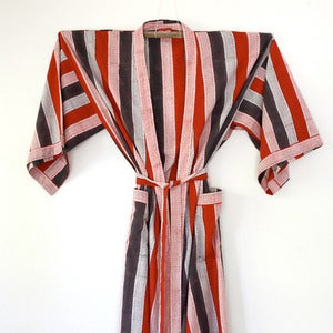 Image of Anokhi Cotton Striped Robe