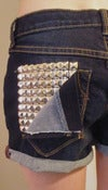 Image of Studded Denim Shorts