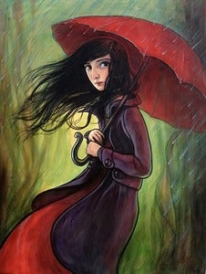 Image of &quot;Red Umbrella&quot; Limited Edition Print