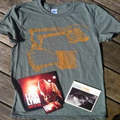 "Image of Slingshot Tee with ""Ring Of Fire"" 7"" vinyl and ""Have You Met Lera Lynn?"" CD"