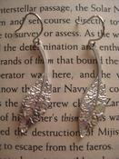 Image of Silver Plated Long Leaf Earings