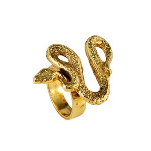 Image of Snake Ring-Gold
