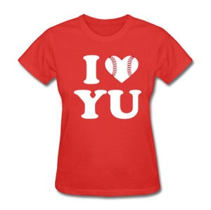 Image of *Women's Fit* I Love Yu Darvish (Red w/ Baseball Heart)