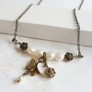 Image of Enchantment Charm Necklace (pearl)