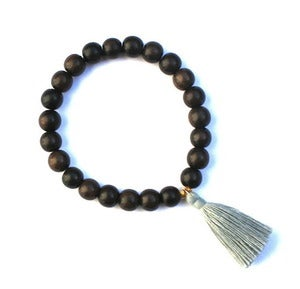 Image of Tassel & Wood Bead Bracelet