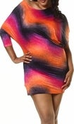 Image of Plus size Metallic Print Asymmetric Dress