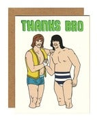 Image of Thanks Bro Greeting Card