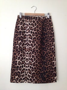 Image of 'Natasha' skirt - leopard print