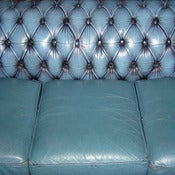 Image of Blue Sofa - Canvas Print