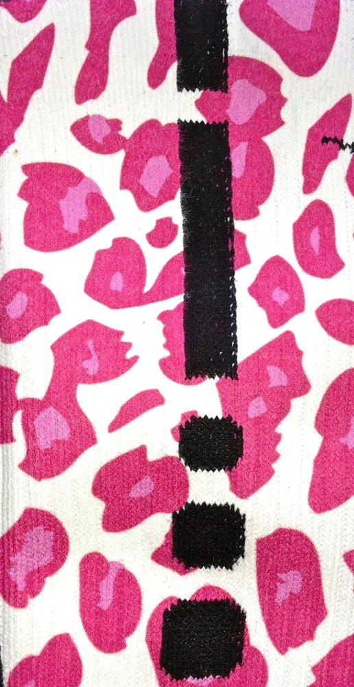 Image of Pink Leopard Nike Elite Socks
