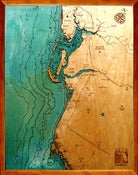 Image of Charlotte Harbor/Fort Myers/Naples, FL Wood Map