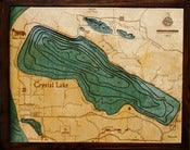 Image of Crystal Lake, MI Wood Map