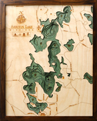 Image of Arbutus Lake, MI Wood Map