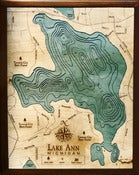 Image of Lake Ann, MI Wood Map
