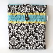 Image of ipad case - chocolate damask 