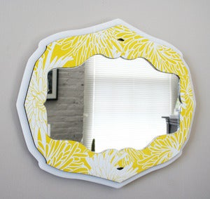 Image of Curly Bracket Mirror - Canary Bloom