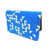 Image of Triangles ) Blue ) Slim Wallet