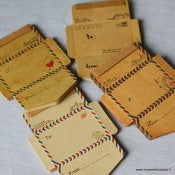 Image of Bloc-note &quot;mini enveloppes AirMail&quot;