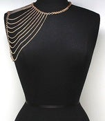 Image of Shoulder Chain Necklace (Gold or Silver)