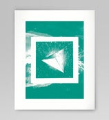 Image of Green Square Silkscreen Print