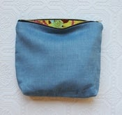 Image of Chambray Linen Cosmetic Bag