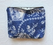 Image of Faded Toile Cosmetic Bag